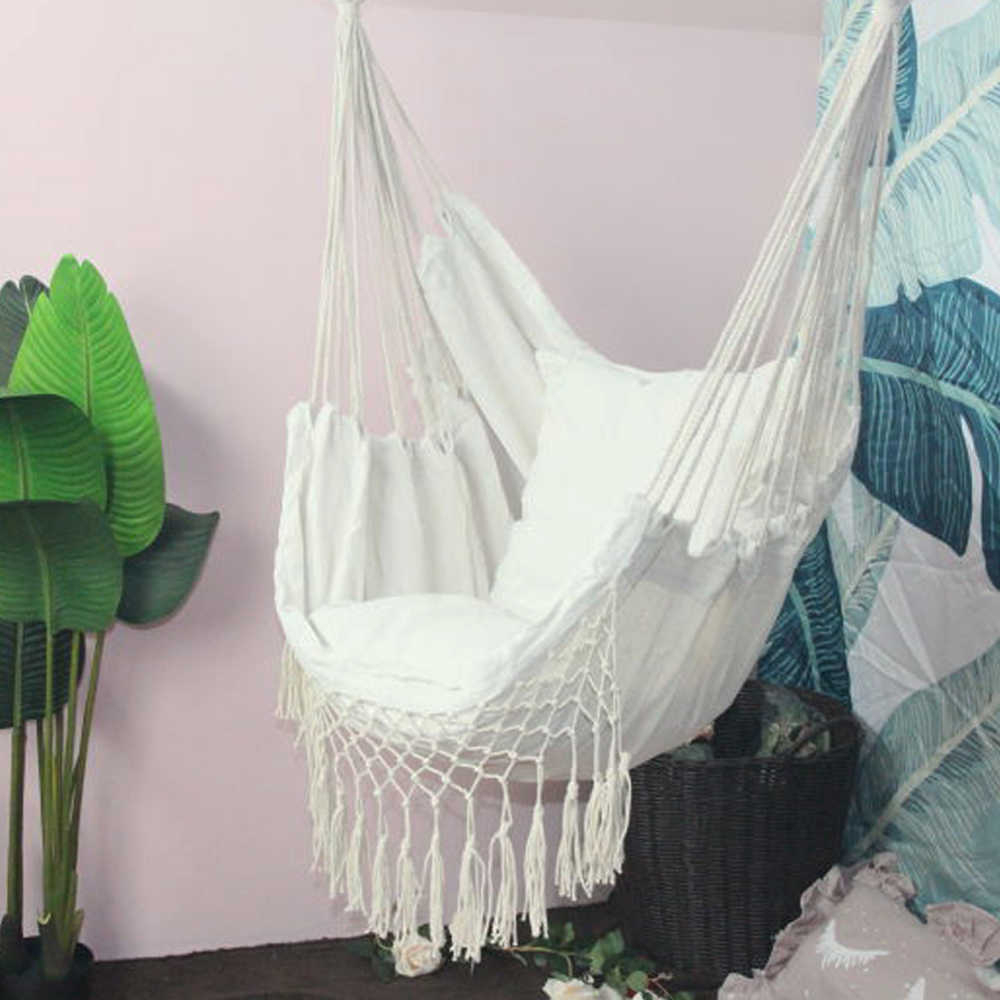Hanging Rope Hammock Chair Porch Swing Seat, Large Hammock For Popular Hanging Daybed Rope Porch Swings (View 18 of 30)