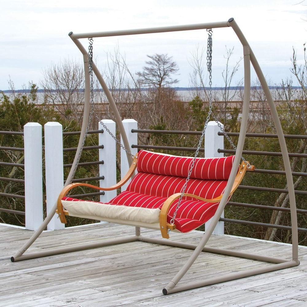 Hardwood Hanging Porch Swings With Stand Throughout Most Recent Review: The 7 Best Patio And Porch Swing Stands – Wooden And (View 15 of 30)