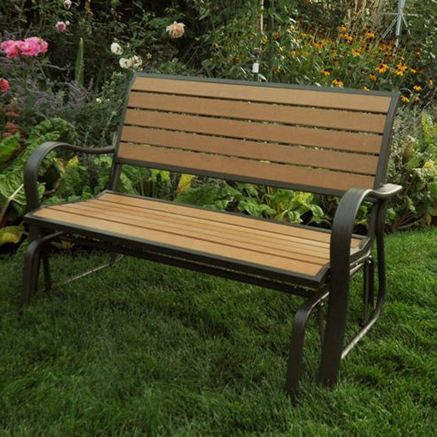 """Hardwood Porch Glider Benches Inside Current Amazon : Lifetime 48"""" Glider Bench/porch Outdoor Seating (View 8 of 30)"""