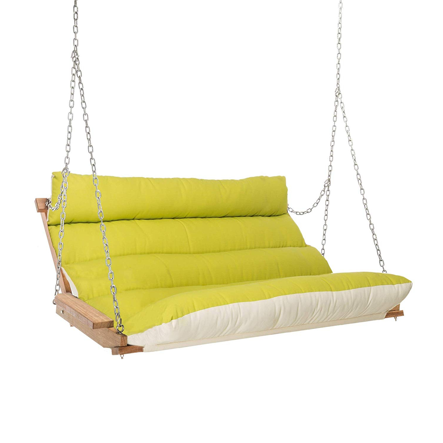 Hatteras Hammocks Sunbrella Deluxe Cushion Swing – Gateway Indigo Regarding Trendy Deluxe Cushion Sunbrella Porch Swings (View 5 of 30)