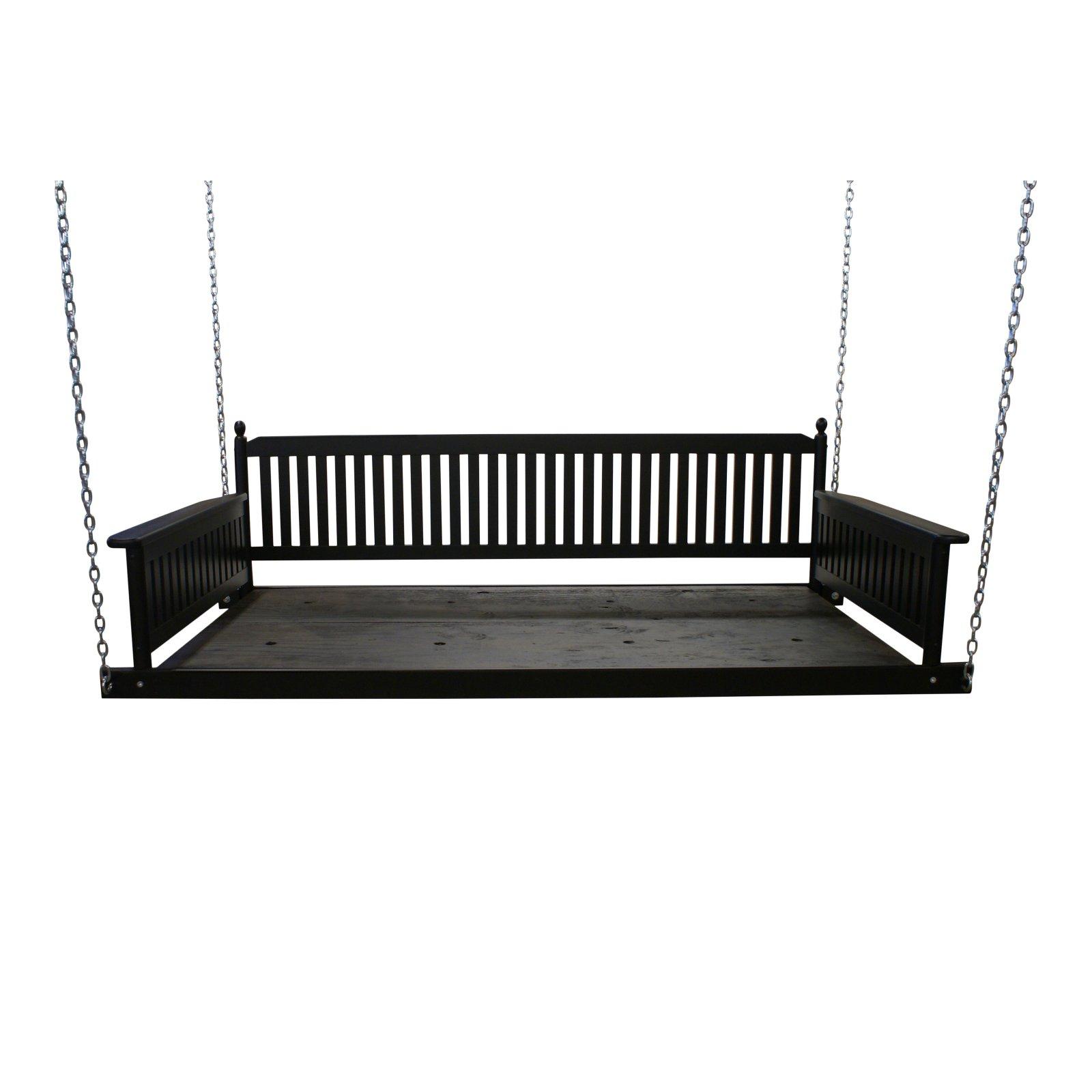 Hinkle Bradley 256 Wood Patio Day Bed Swing (View 16 of 30)