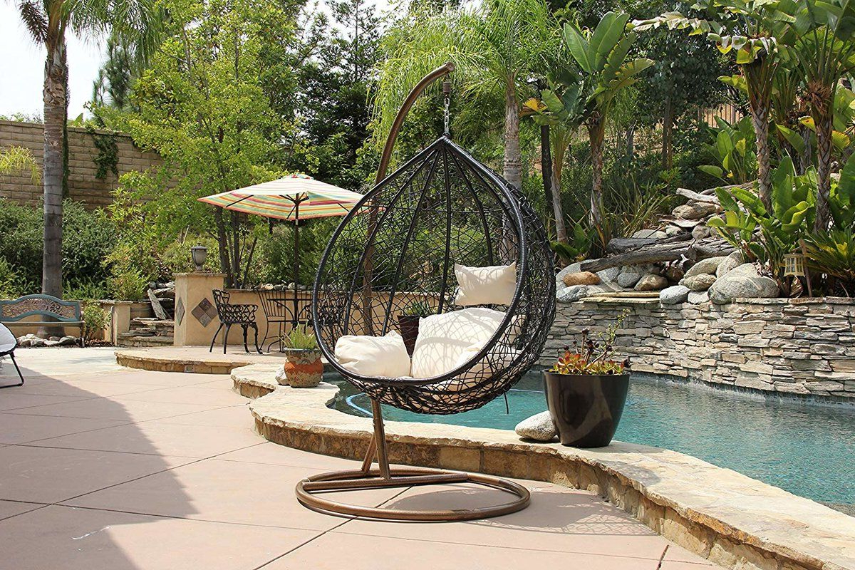 Hobbs Outdoor Wicker Plastic Tear Porch Swing With Stand Regarding Most Recently Released Outdoor Wicker Plastic Tear Porch Swings With Stand (View 3 of 30)