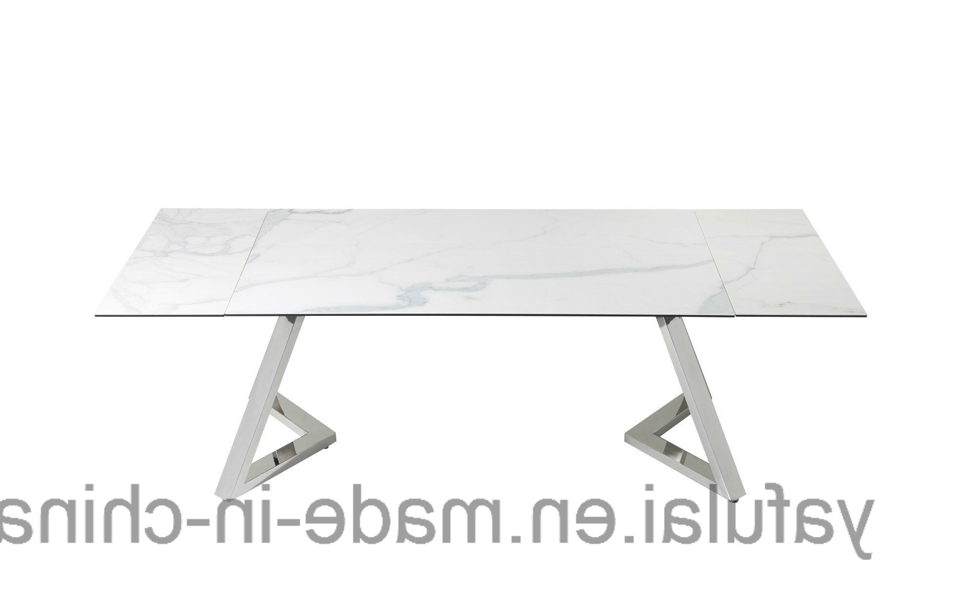 [%[Hot Item] Modern Extension Tempered Glass Ceramic Top Stainless Steel  Dining Table Intended For Fashionable Modern Glass Top Extension Dining Tables In Stainless Modern Glass Top Extension Dining Tables In Stainless In 2017 [Hot Item] Modern Extension Tempered Glass Ceramic Top Stainless Steel  Dining Table Well Known Modern Glass Top Extension Dining Tables In Stainless With Regard To [Hot Item] Modern Extension Tempered Glass Ceramic Top Stainless Steel  Dining Table Widely Used [Hot Item] Modern Extension Tempered Glass Ceramic Top Stainless Steel  Dining Table Regarding Modern Glass Top Extension Dining Tables In Stainless%] (View 2 of 30)