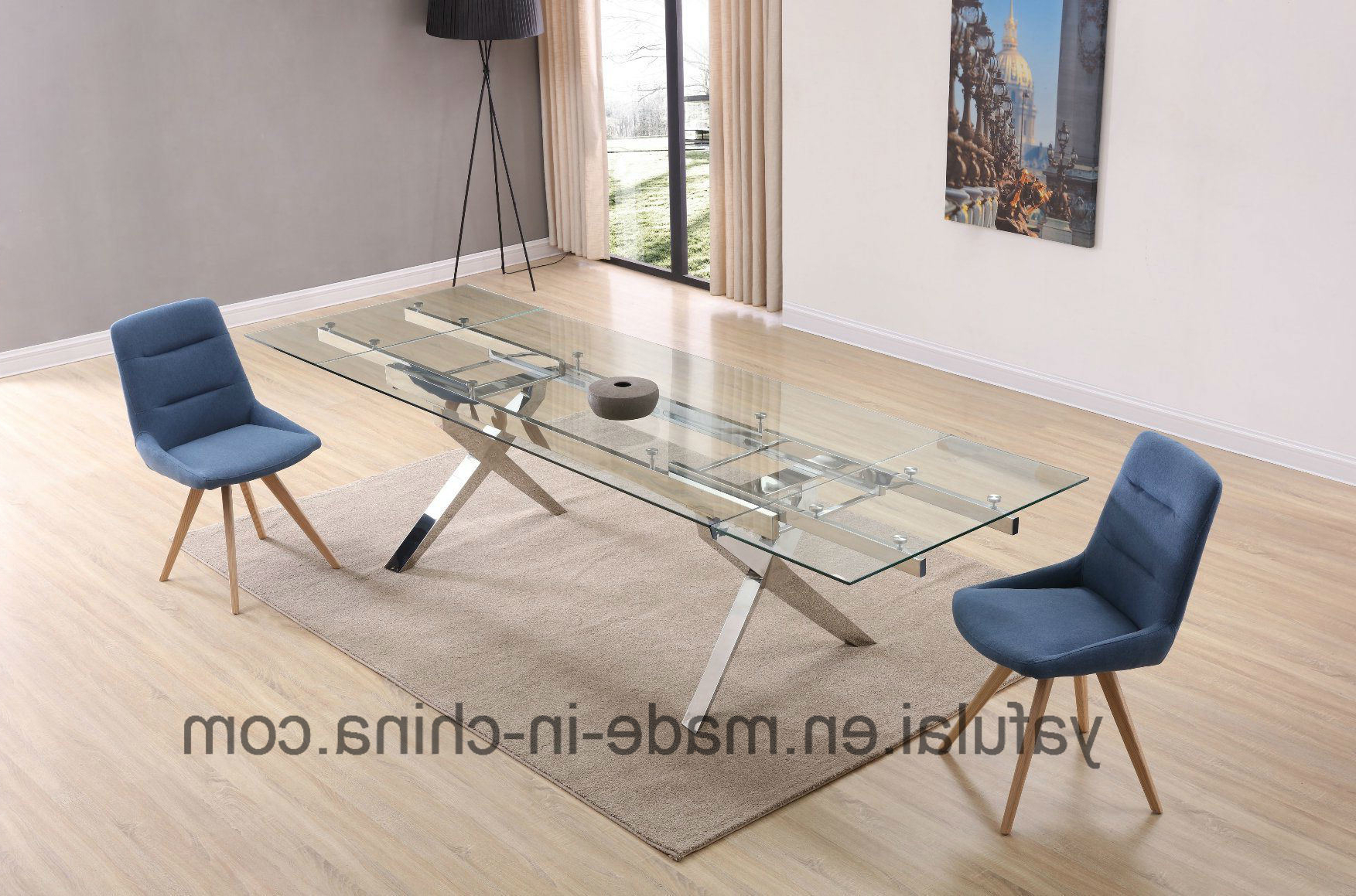[%[Hot Item] Modern Furniture Stainless Steel Frame Tempered Glass Top Dining  Table Throughout 2017 Modern Glass Top Extension Dining Tables In Stainless Modern Glass Top Extension Dining Tables In Stainless Within Well Known [Hot Item] Modern Furniture Stainless Steel Frame Tempered Glass Top Dining  Table Popular Modern Glass Top Extension Dining Tables In Stainless Within [Hot Item] Modern Furniture Stainless Steel Frame Tempered Glass Top Dining  Table Fashionable [Hot Item] Modern Furniture Stainless Steel Frame Tempered Glass Top Dining  Table For Modern Glass Top Extension Dining Tables In Stainless%] (View 4 of 30)
