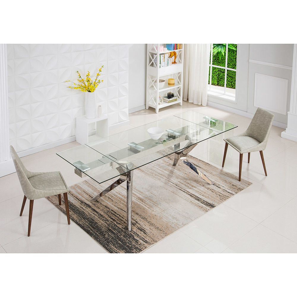 [%[hot Item] Modern Rectangle Clear Glass Steel Dining Table Furniture With Famous Steel And Glass Rectangle Dining Tables steel And Glass Rectangle Dining Tables For Most Recently Released [hot Item] Modern Rectangle Clear Glass Steel Dining Table Furniture favorite Steel And Glass Rectangle Dining Tables Regarding [hot Item] Modern Rectangle Clear Glass Steel Dining Table Furniture widely Used [hot Item] Modern Rectangle Clear Glass Steel Dining Table Furniture Regarding Steel And Glass Rectangle Dining Tables%] (View 28 of 30)