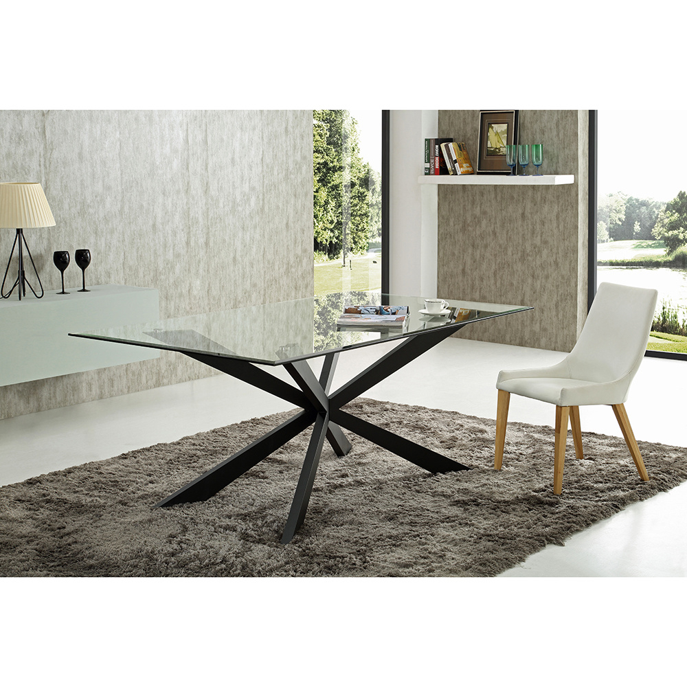 [%[hot Item] New Design Glass Dining Table With Metal Leg Furniture Set Regarding Most Recent Glass Dining Tables With Metal Legs|glass Dining Tables With Metal Legs Within Most Up To Date [hot Item] New Design Glass Dining Table With Metal Leg Furniture Set|popular Glass Dining Tables With Metal Legs For [hot Item] New Design Glass Dining Table With Metal Leg Furniture Set|well Known [hot Item] New Design Glass Dining Table With Metal Leg Furniture Set With Regard To Glass Dining Tables With Metal Legs%] (View 23 of 30)