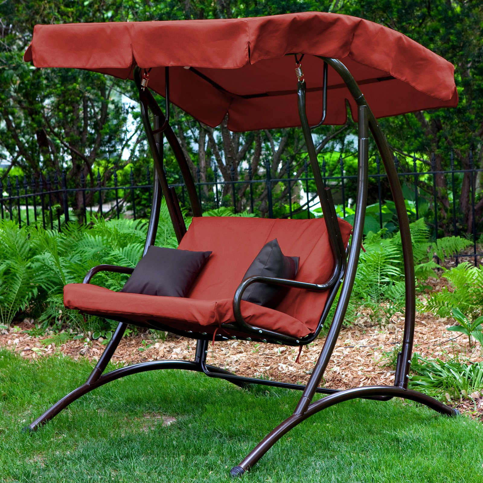 How To Replace A Canopy On An Outdoor Swing (View 11 of 30)