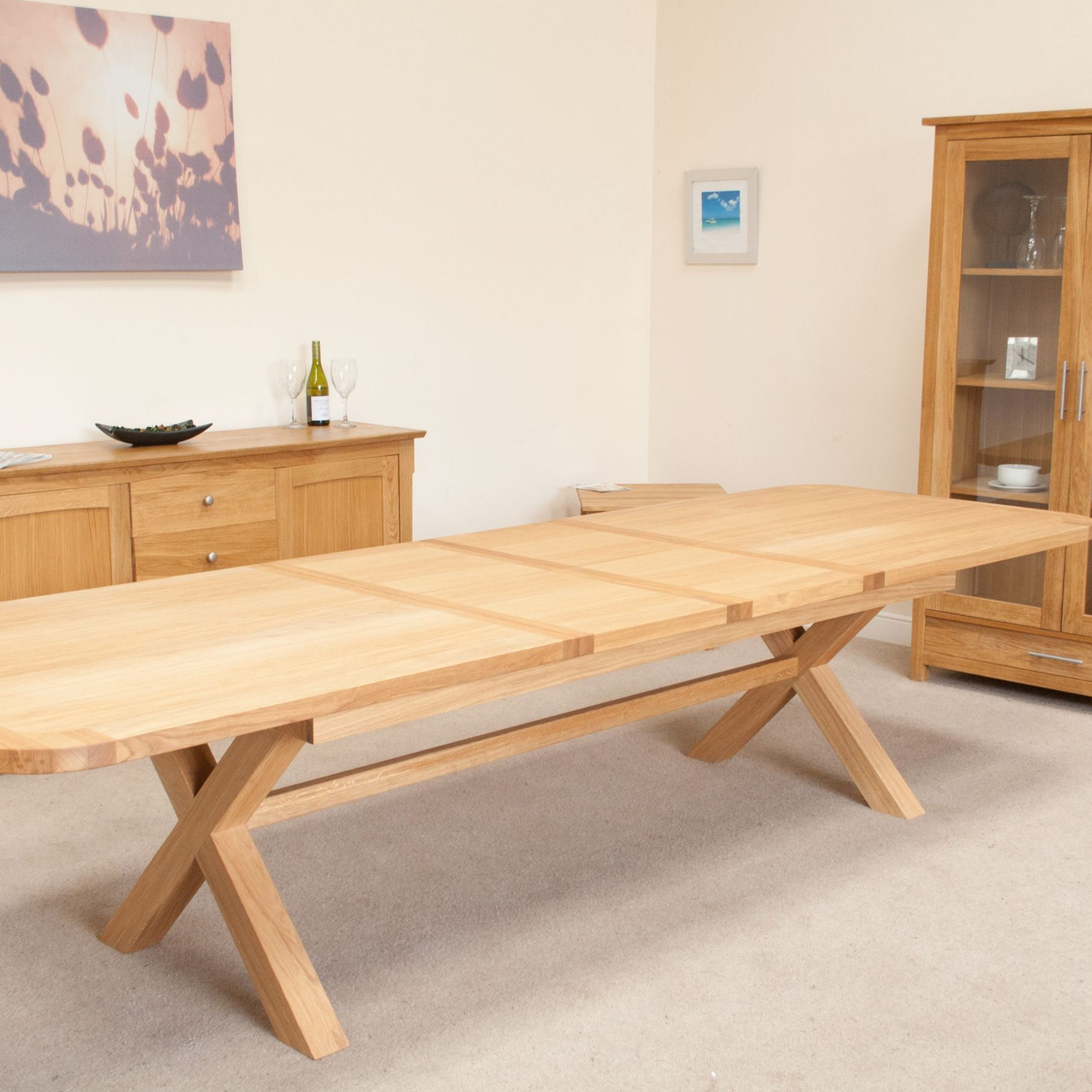 Huge Big Regarding 8 Seater Wood Contemporary Dining Tables With Extension Leaf (View 25 of 30)