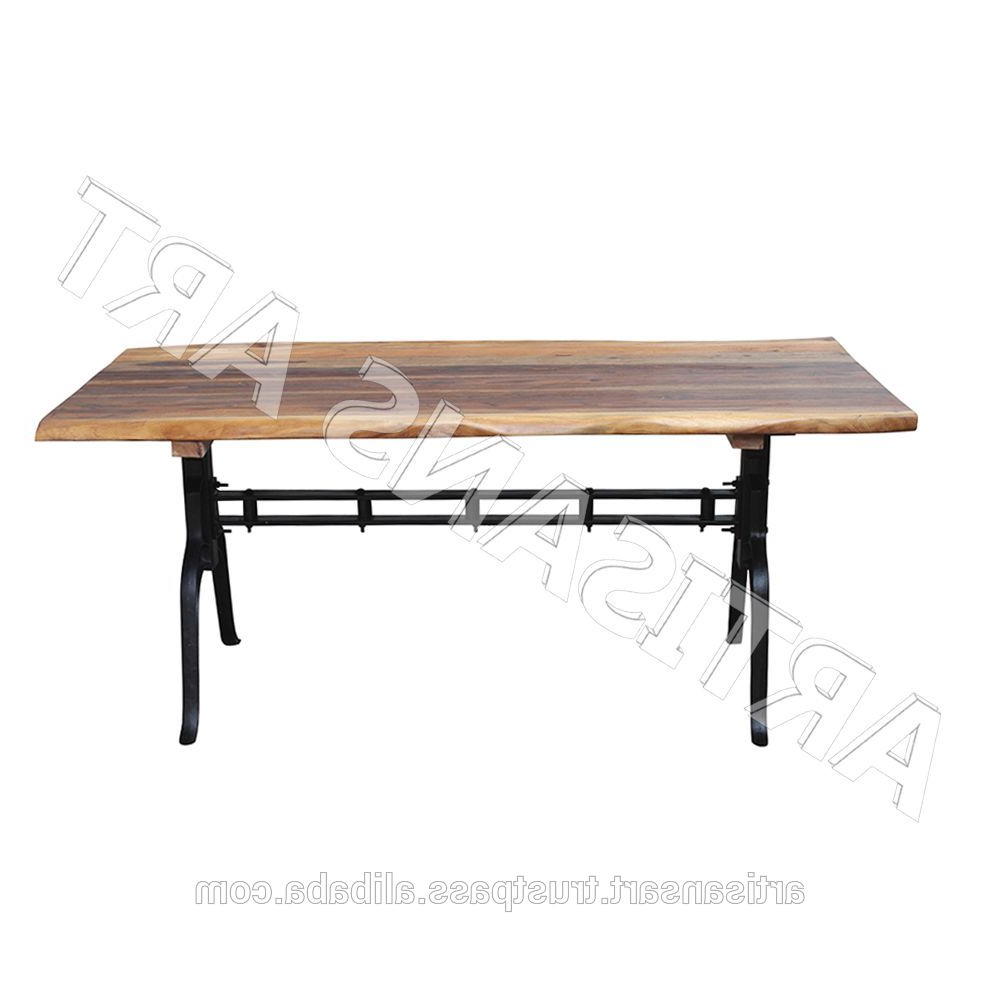 Industrial Live Edge Iron Base Dining Table,solid Wood Slab Dining Table,acacia Wood Dining Table Manufacturer – Buy Live Edge Modern Dining Regarding Favorite Acacia Wood Dining Tables With Sheet Metal Base (View 7 of 30)