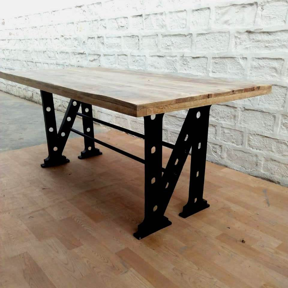 Industrial Vintage Design Metal Wooden Dining Table,industrial Dining Table – Buy Wood Rustic Dining Table,acacia Wood Dining Table,industrial Style Within Fashionable Unique Acacia Wood Dining Tables (View 16 of 30)