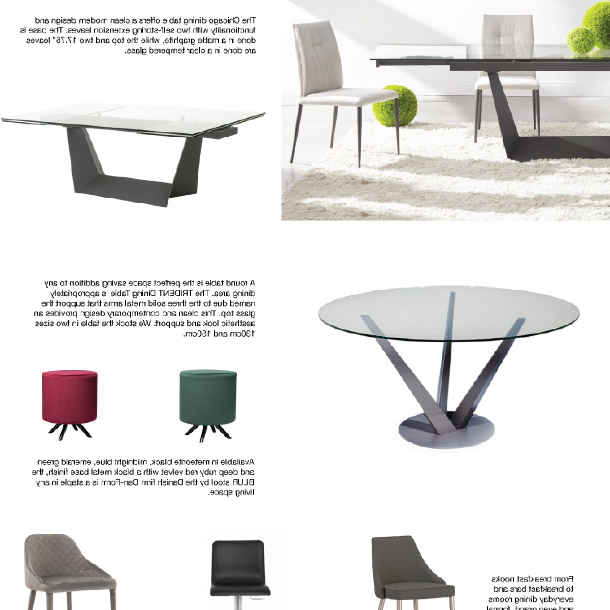 Inspiration Furniture Pertaining To Trendy Glass Top Condo Dining Tables (View 13 of 30)