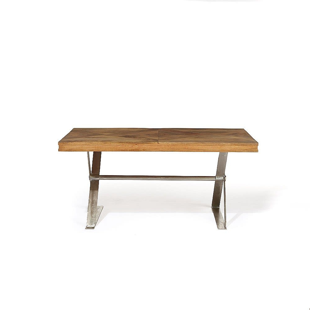 Iron Dining Tables With Mango Wood Intended For Favorite Artisan Mango Wood X Leg Dining Table (View 8 of 30)