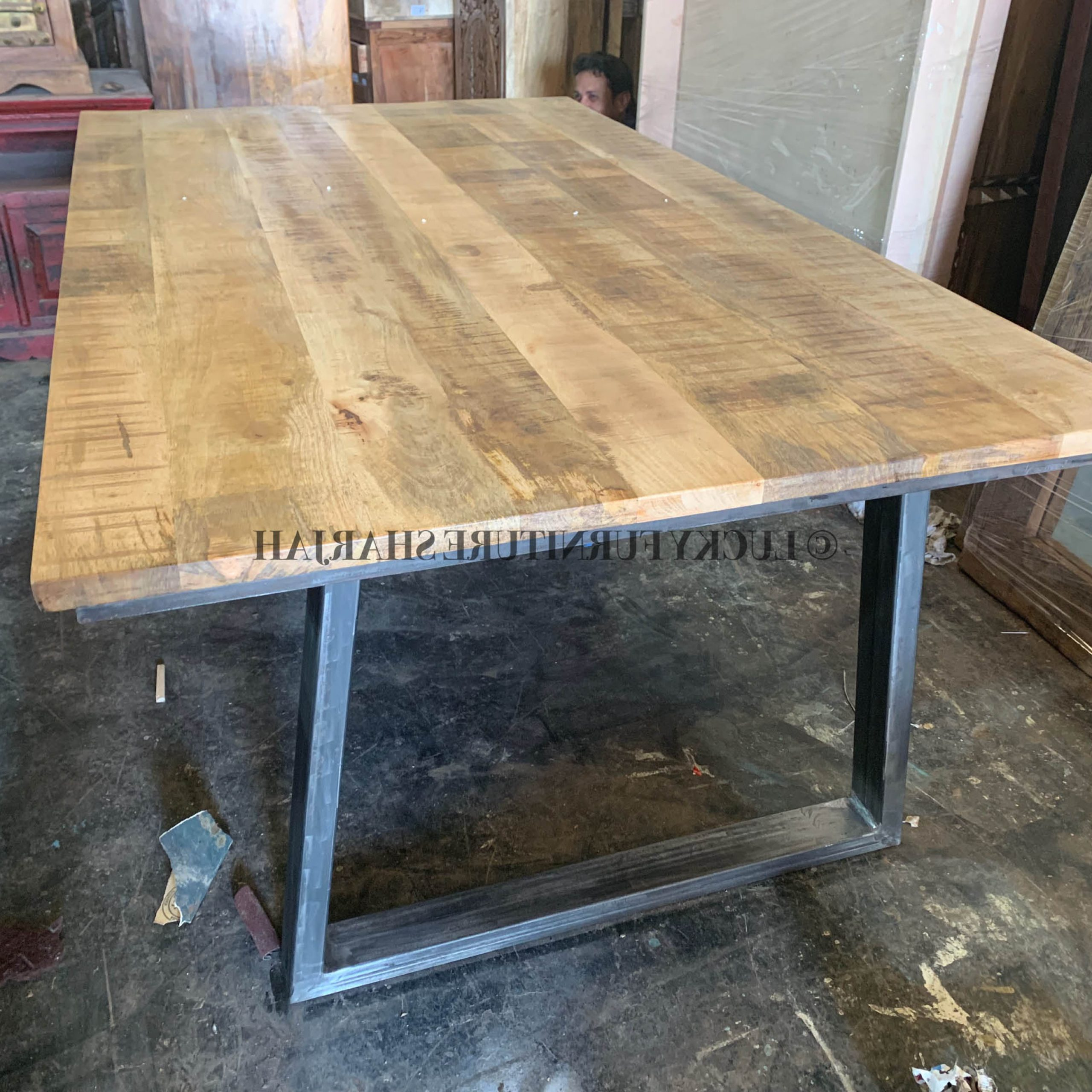 Iron Dining Tables With Mango Wood With Regard To Most Recently Released Lucky Furniture & Handicraftsuae Wooden Furniture Dubai (View 5 of 30)