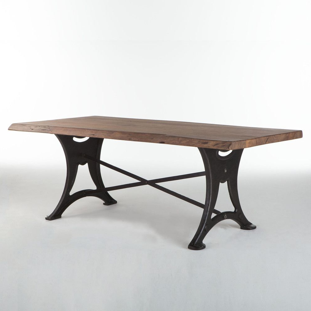 Iron Table Pertaining To Most Up To Date Iron Wood Dining Tables With Metal Legs (View 8 of 30)