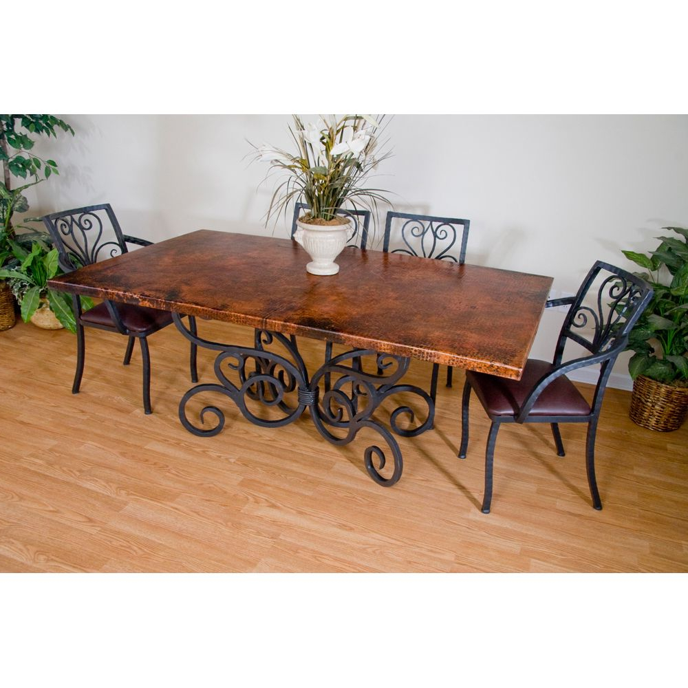 Iron Wood Dining Tables With Best And Newest Alexander Wrought Iron Dining Table And Arm Chairs (View 2 of 30)