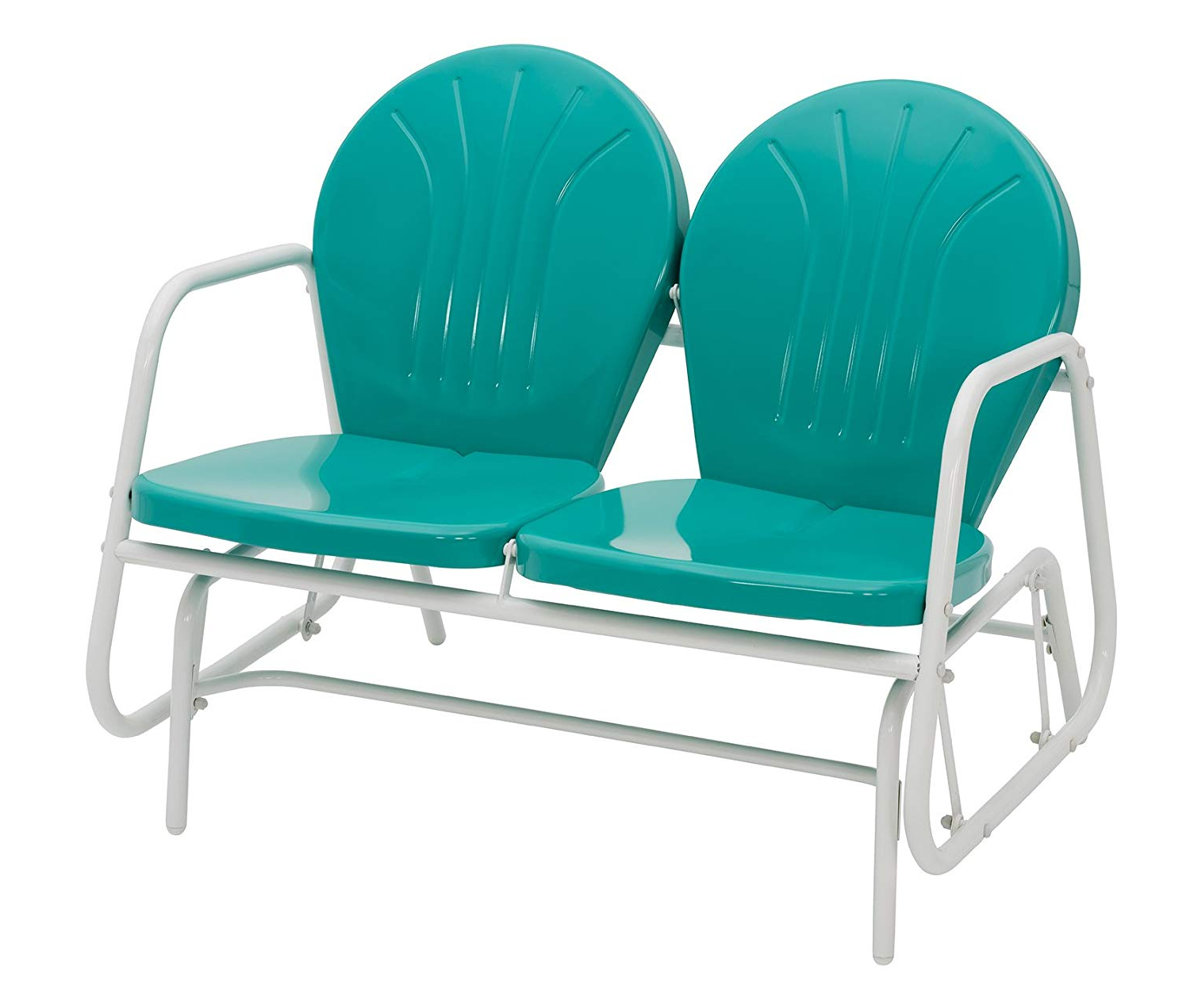 Jack Post Bh 10Em Porch Glider,turquoise Throughout 2019 Metal Retro Glider Benches (View 11 of 30)