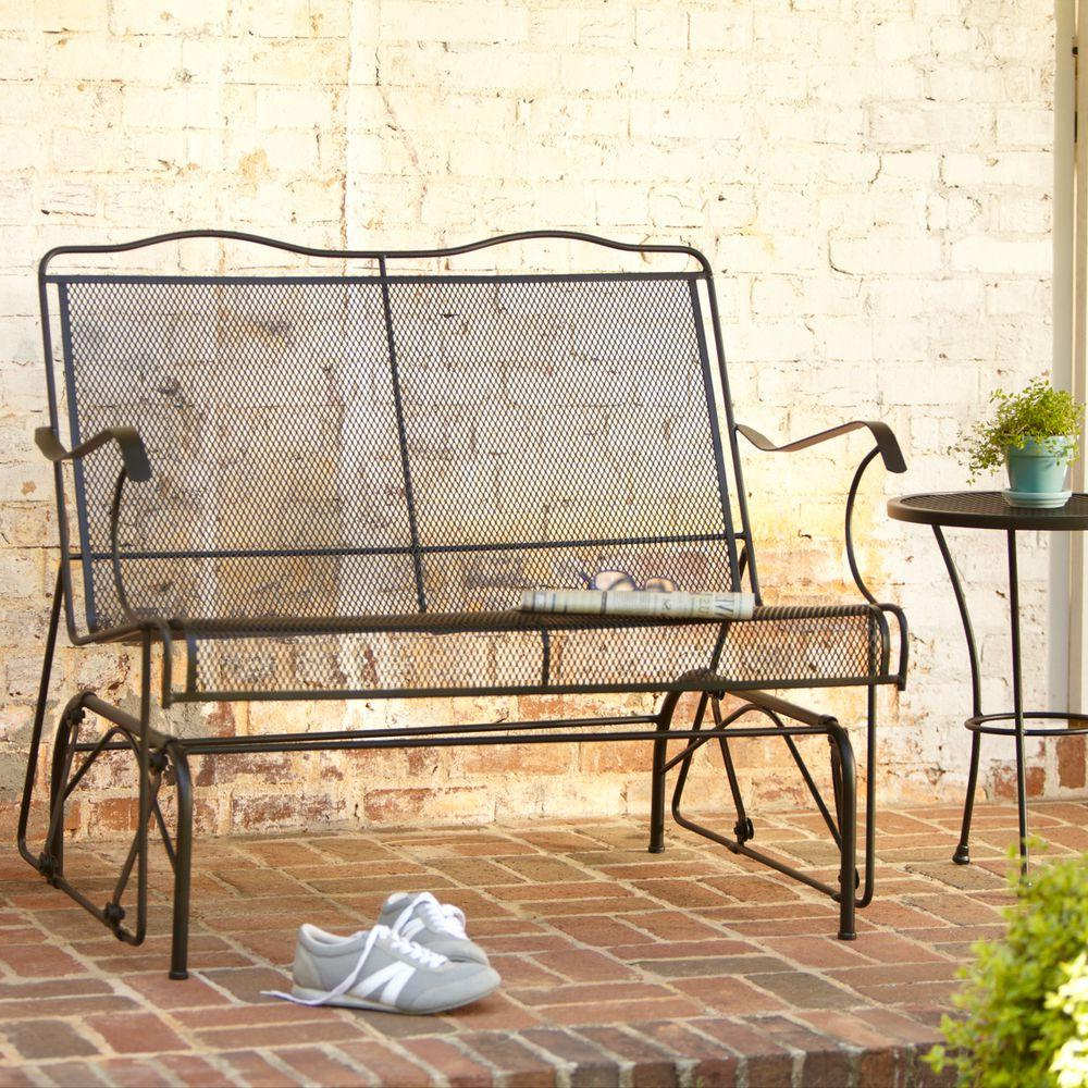 Jackson Patio Loveseat Glider Within Most Recent Outdoor Retro Metal Double Glider Benches (Gallery 24 of 30)
