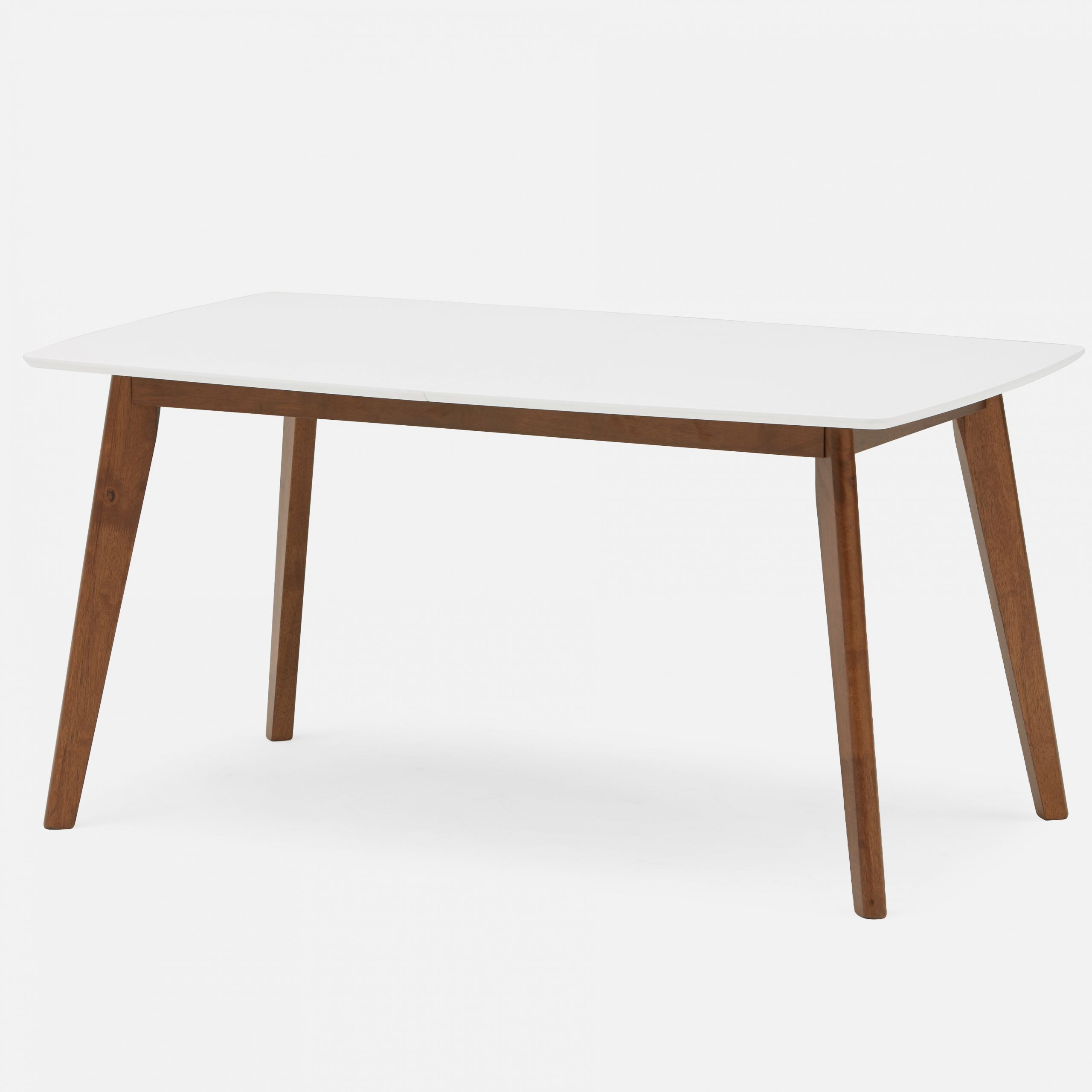 Juhana Extendable Dining Table With Lacquered Top 150cm To For Most Popular Frosted Glass Modern Dining Tables With Grey Finish Metal Tapered Legs (View 13 of 30)