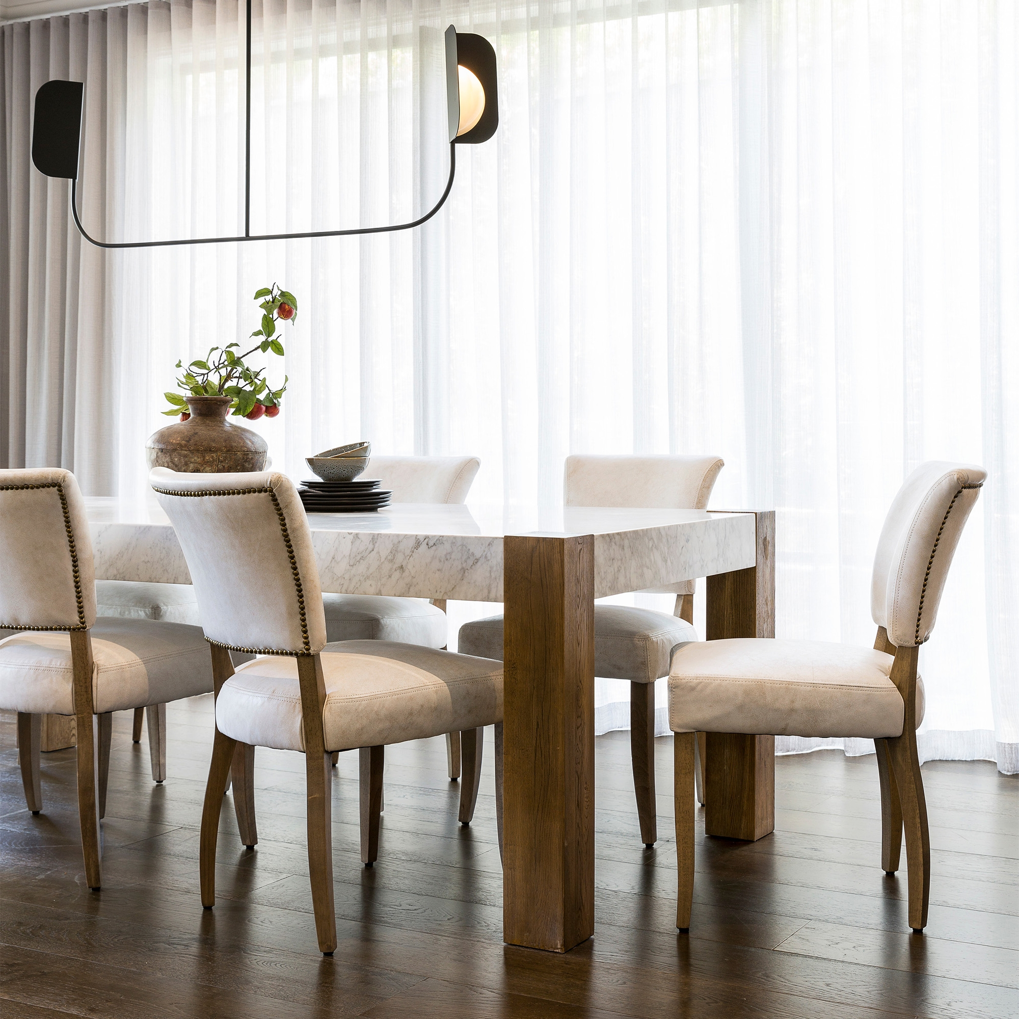 Junction Dining Table Regarding Favorite Thick White Marble Slab Dining Tables With Weathered Grey Finish (View 21 of 30)