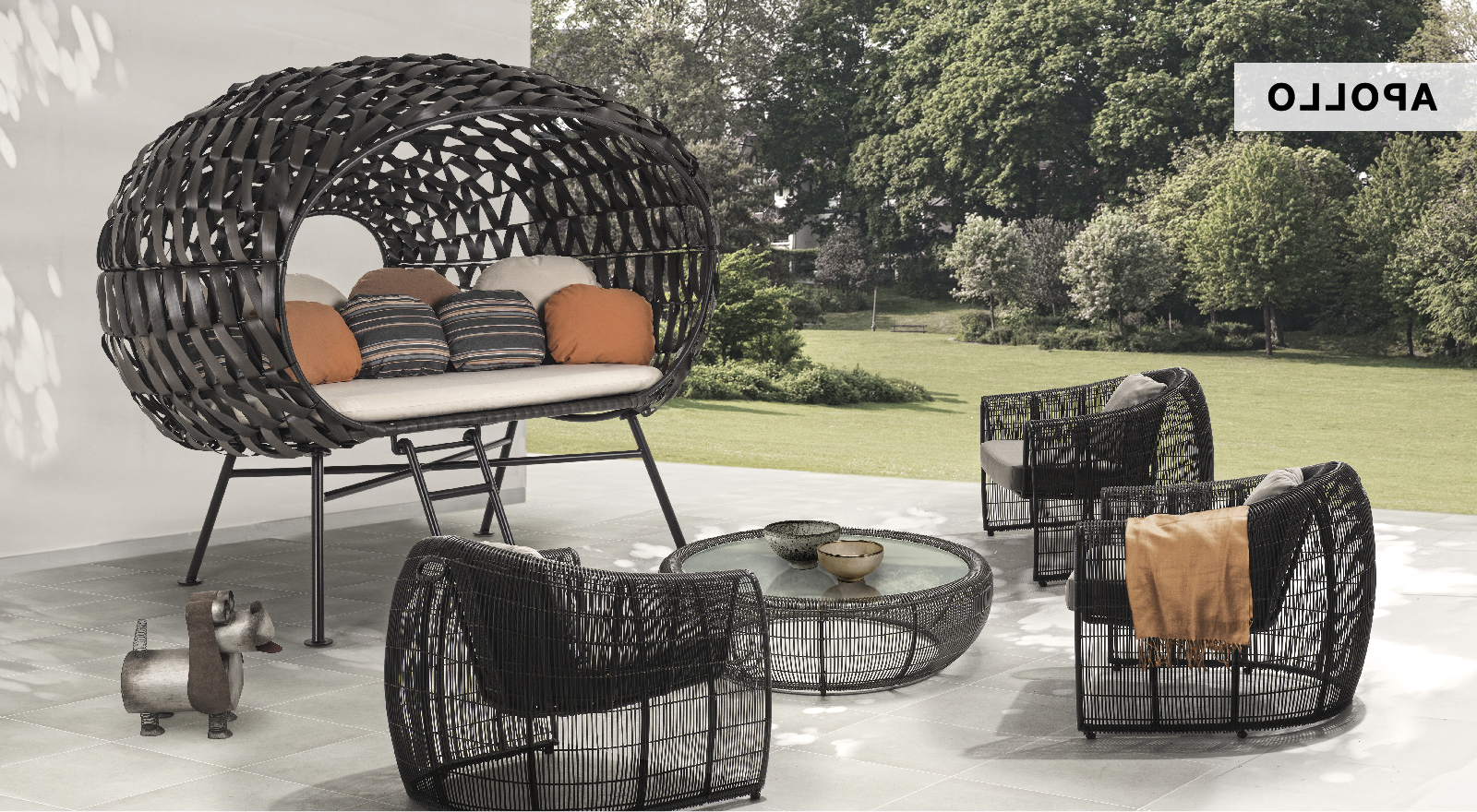 Kenneth Cobonpue Within Latest Outdoor Wicker Plastic Half Moon Leaf Shape Porch Swings (View 15 of 30)