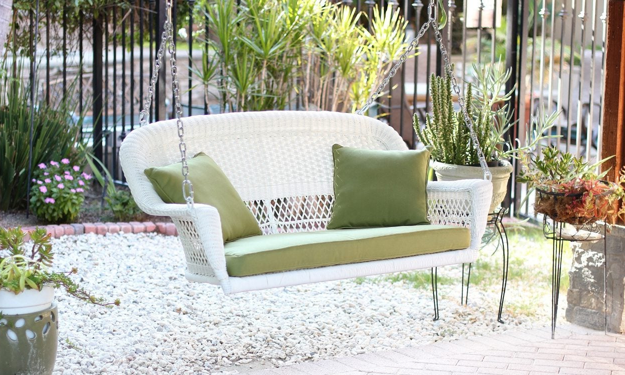 Lamp Outdoor Porch Swings Throughout Most Up To Date Best Porch Swings For Your Home – Overstock (View 4 of 30)