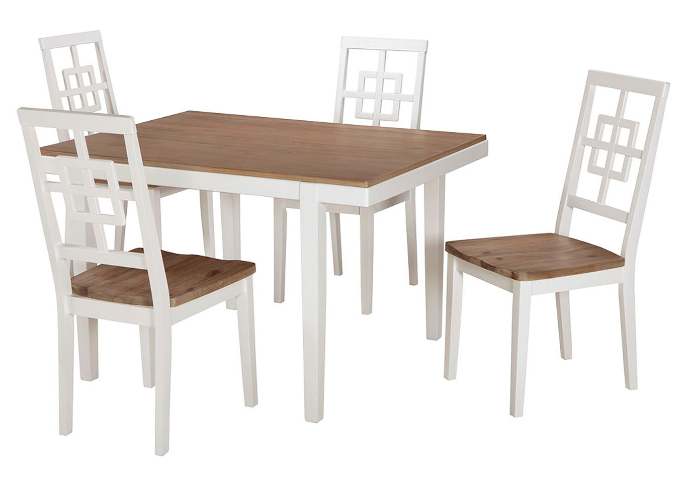 Landmark Home Furnishings – Houma, La Brovada Two Tone Throughout Fashionable Unfinished Drop Leaf Casual Dining Tables (View 29 of 30)