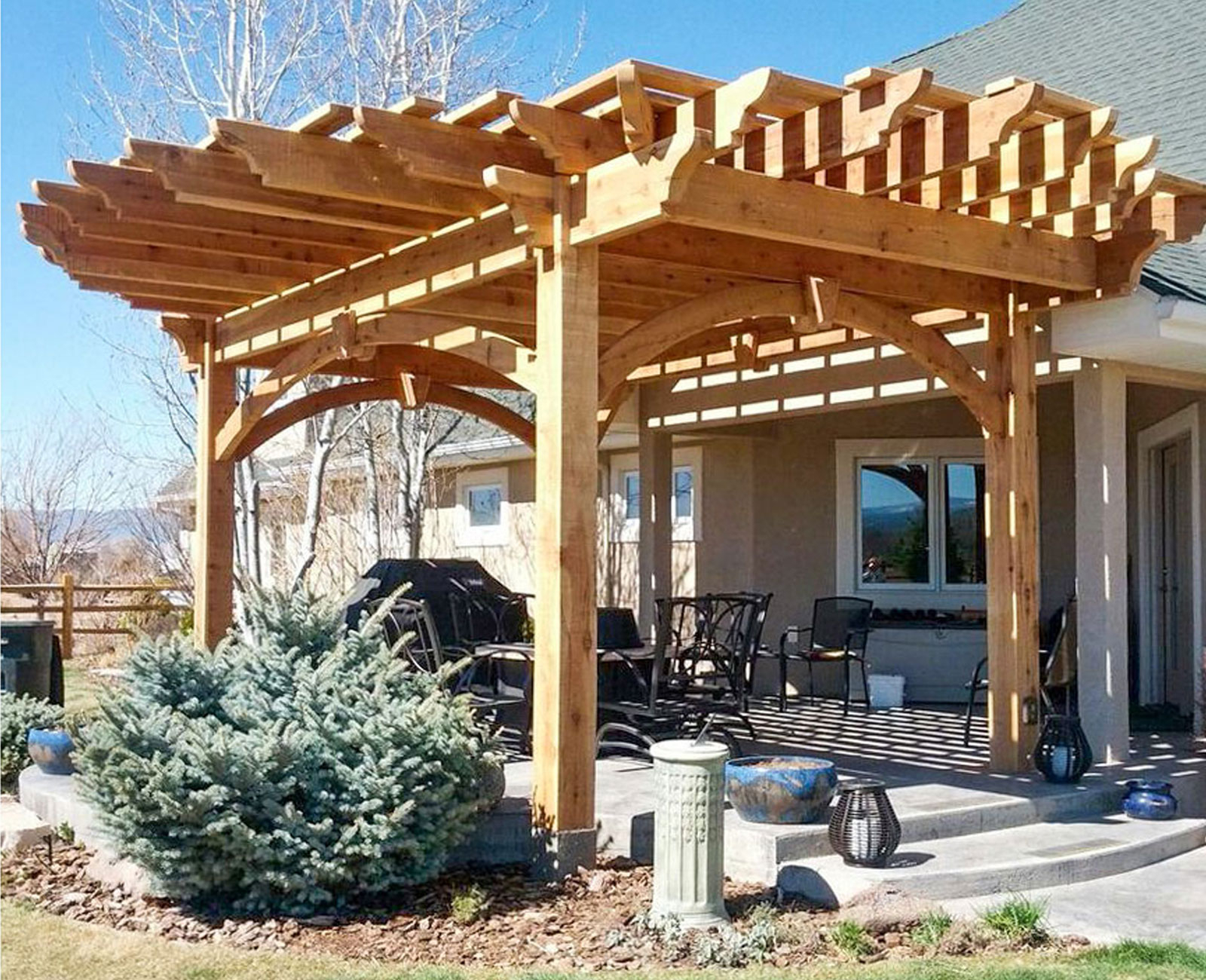 Landscapeonline – New News Everyday & When It Breaks Inside Most Current A4 Ft Cedar Pergola Swings (View 18 of 30)