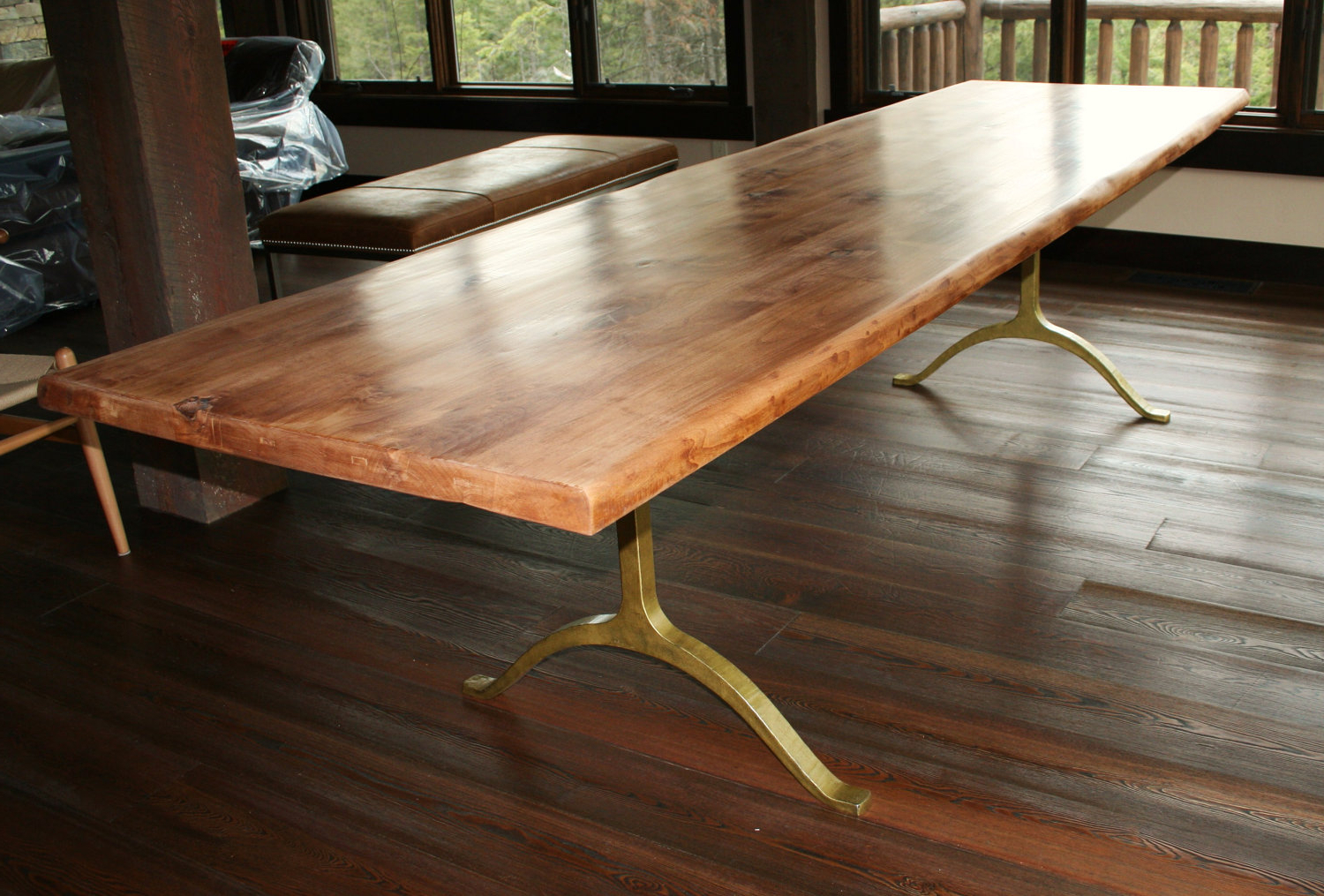 Large Rustic Look Dining Tables Regarding Favorite Large Farmhouse Furniture Make Dining Oak Bench Deco Tables (View 27 of 30)
