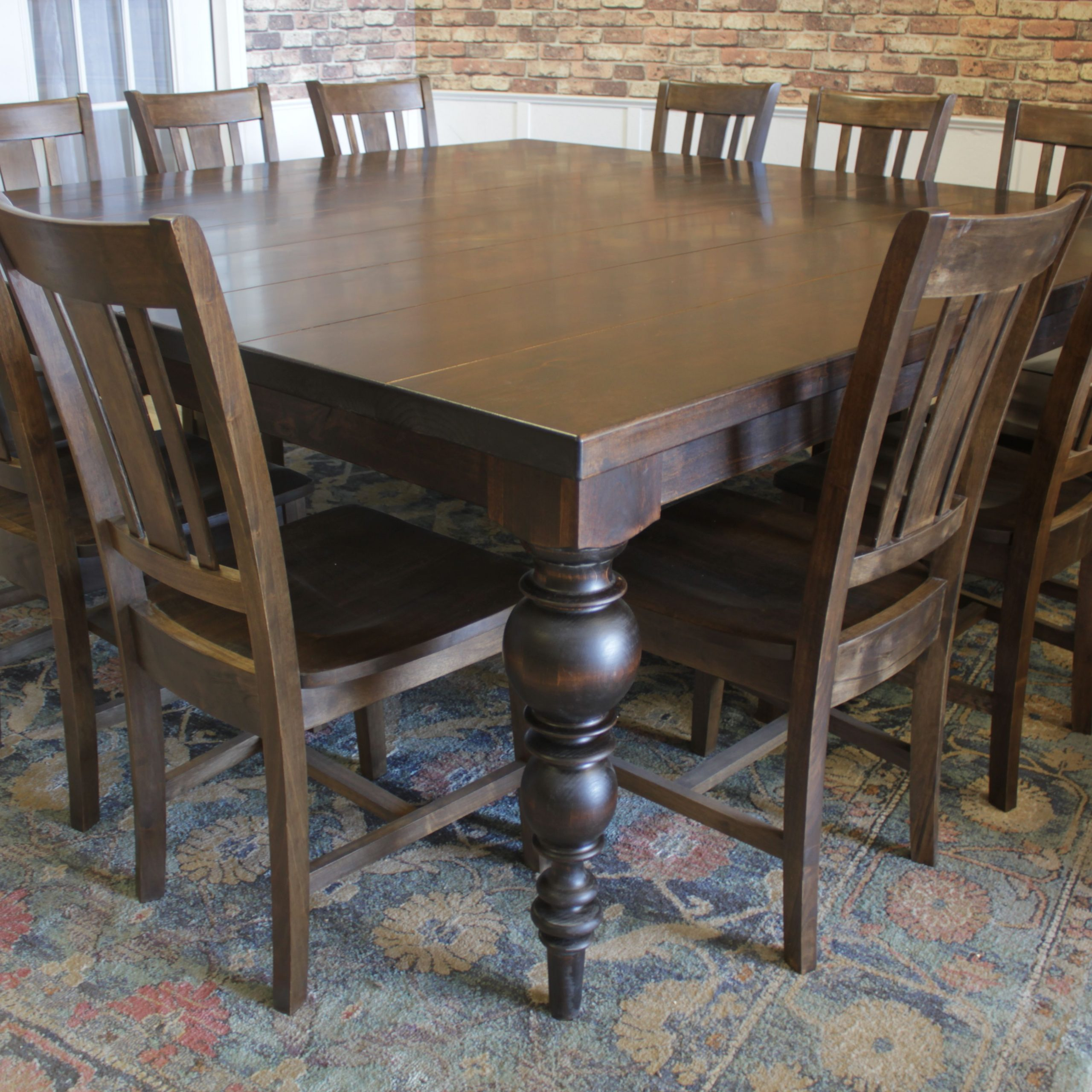 Large Rustic Look Dining Tables Throughout Fashionable This Large Square Dining Table For 12 Makes Entertaining (View 7 of 30)