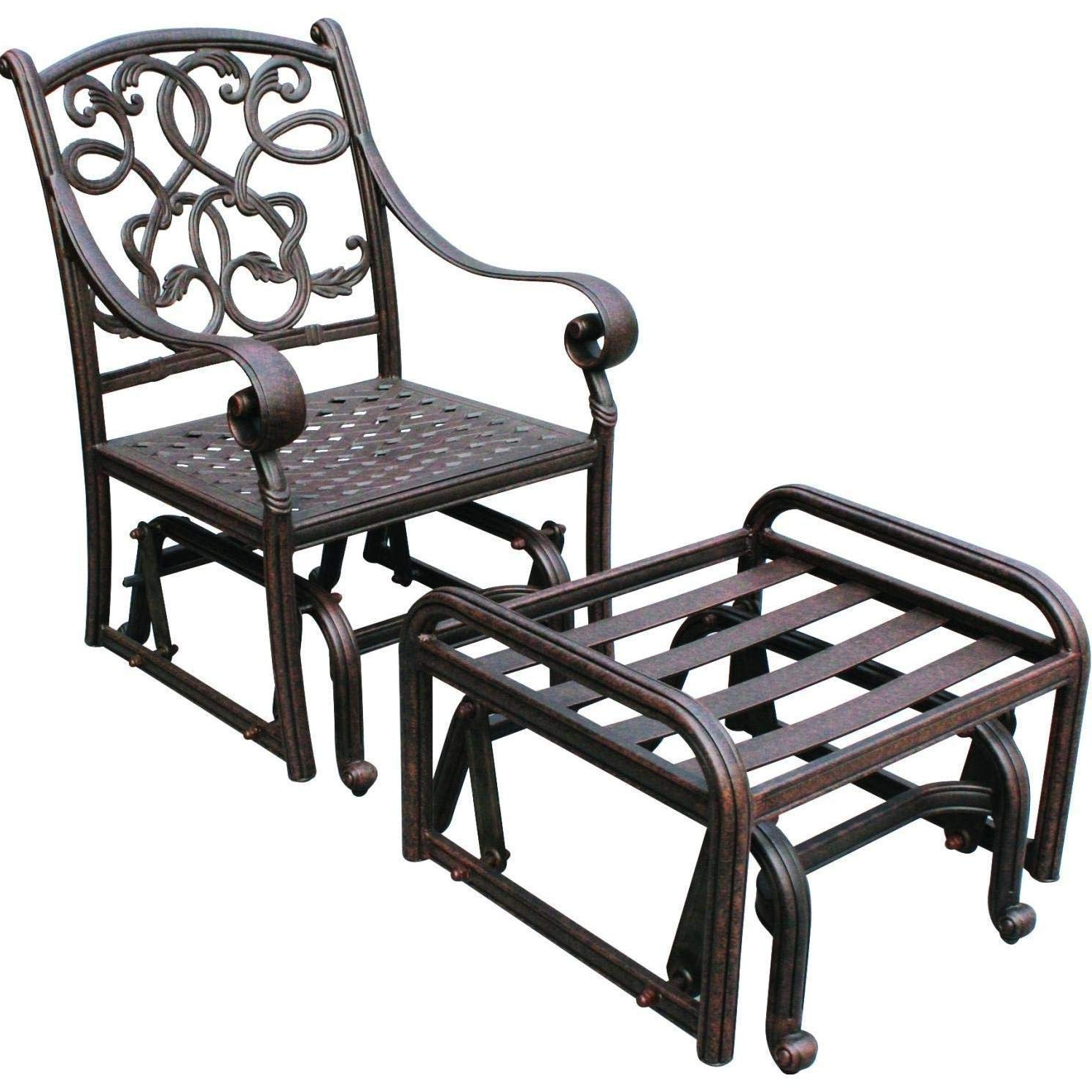 Latest Aluminum Glider Benches With Cushion In Amazon : Darlee Santa Monica Cast Aluminum Patio Glider (View 18 of 30)