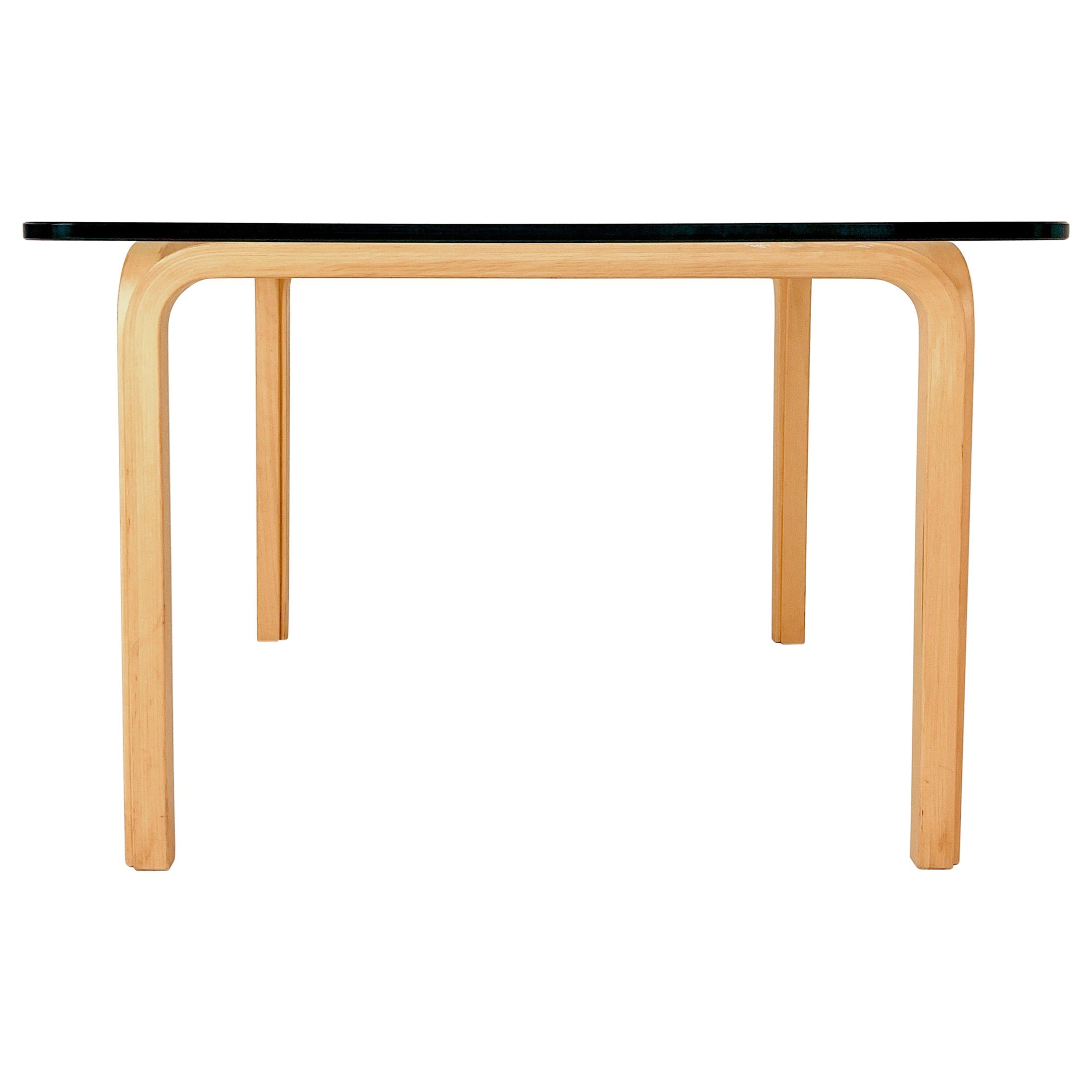 Latest Alvar Aalto Artek Y805 Glass And Bentwood Birch Coffee Or Cocktail Table Intended For Transitional 8 Seating Rectangular Helsinki Dining Tables (View 13 of 30)