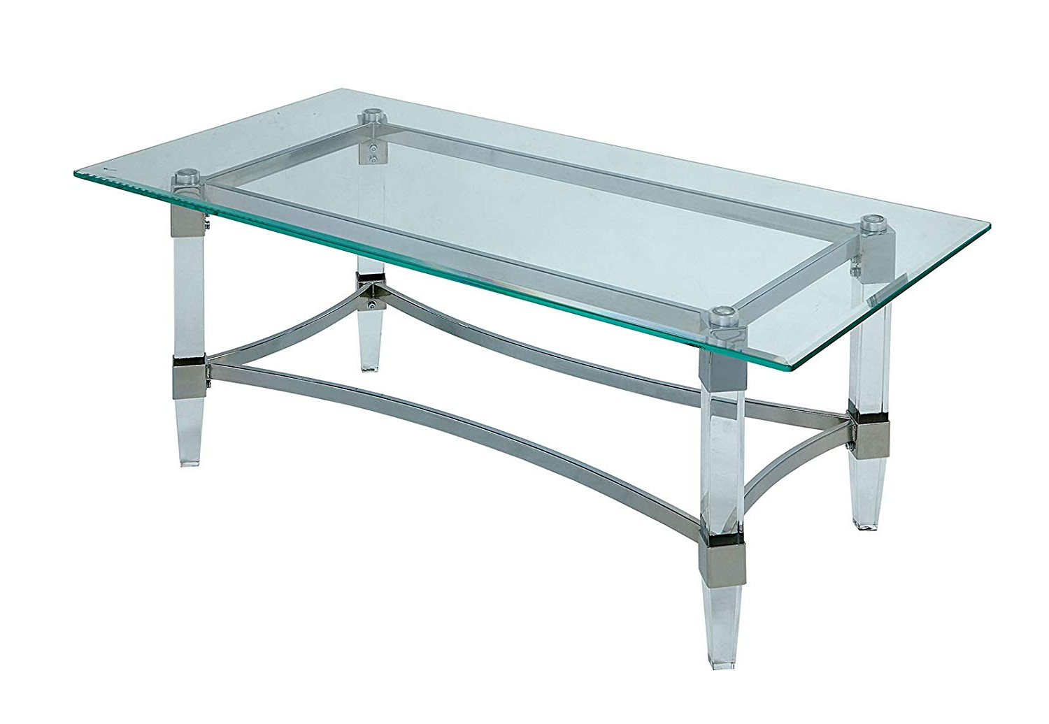 Latest Amazon: Furniture Of America Cm4164c Contemporary Style In Chrome Contemporary Square Casual Dining Tables (View 25 of 30)