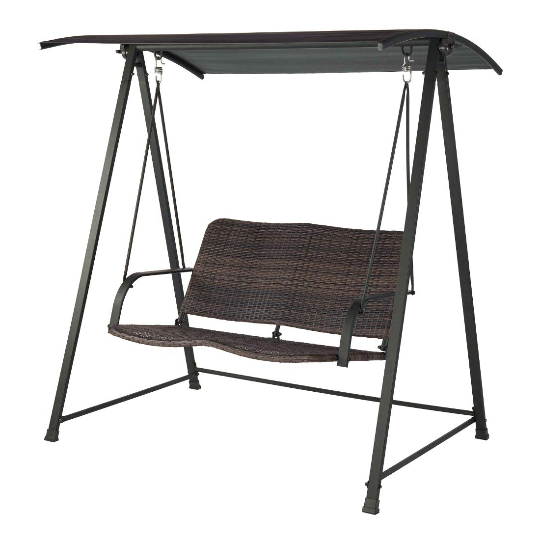 Latest Amazon : Jnwd Resin Wicker Porch Swing Steel Frame Stand Regarding Wicker Glider Outdoor Porch Swings With Stand (View 13 of 30)