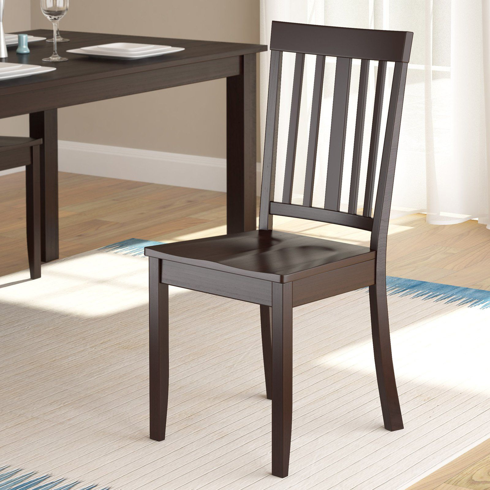 Latest Atwood Transitional Rectangular Dining Tables With Corliving Atwood Stained Dining Side Chairs – Cappuccino (View 17 of 30)