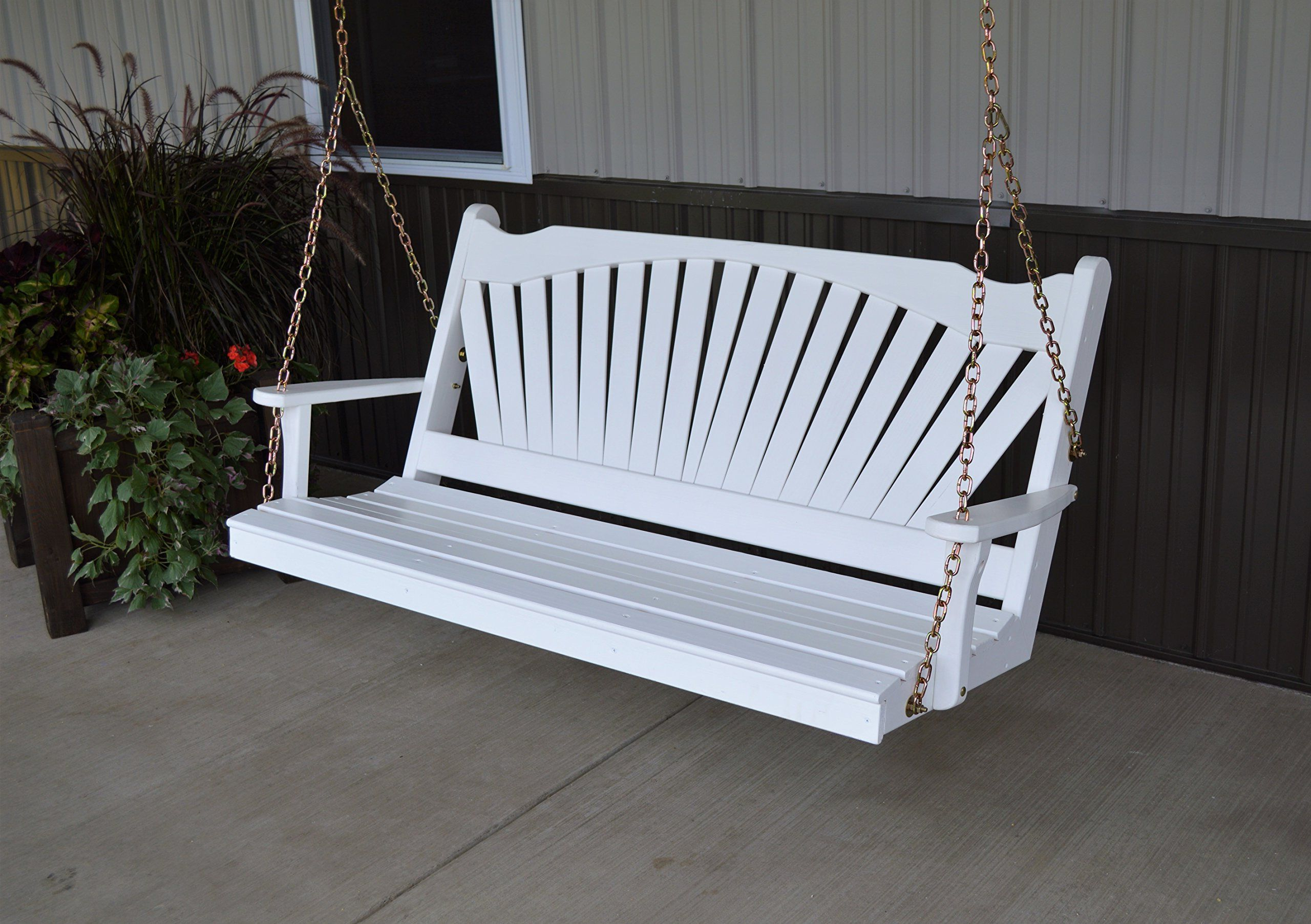 Latest Best Porch Swing 5 Fanback Designer Patio #outdoorfurniture Inside Fordyce Porch Swings (View 18 of 30)