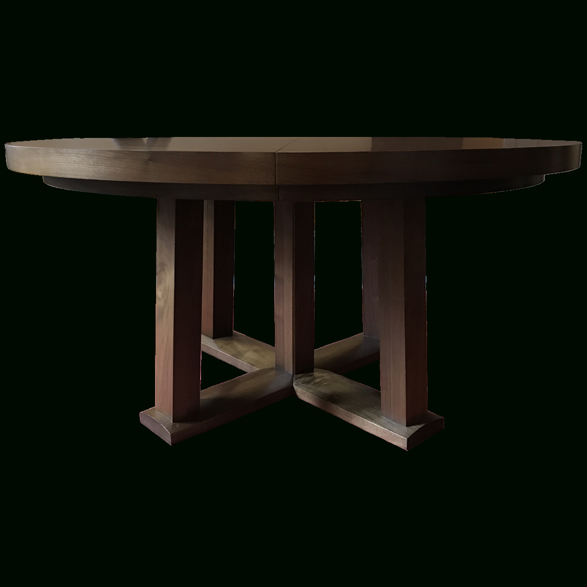 Latest Christian Liaigre Round Oak Expandable Dining Table In Neo Round Dining Tables (View 27 of 30)