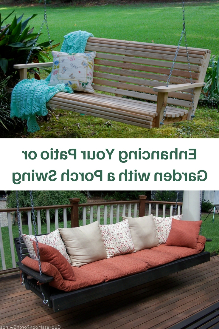 Latest Enhancing Your Patio Or Garden With A Porch Swing With Contoured Classic Porch Swings (View 14 of 30)