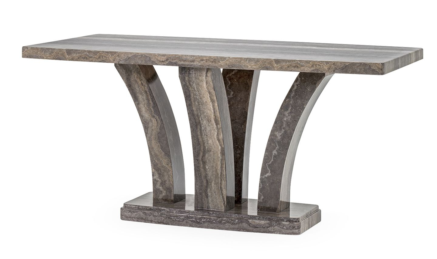 Latest Medium Dining Tables Intended For Aquila High Gloss Pearl Grey Marble Medium Dining Table 18vd (View 18 of 30)