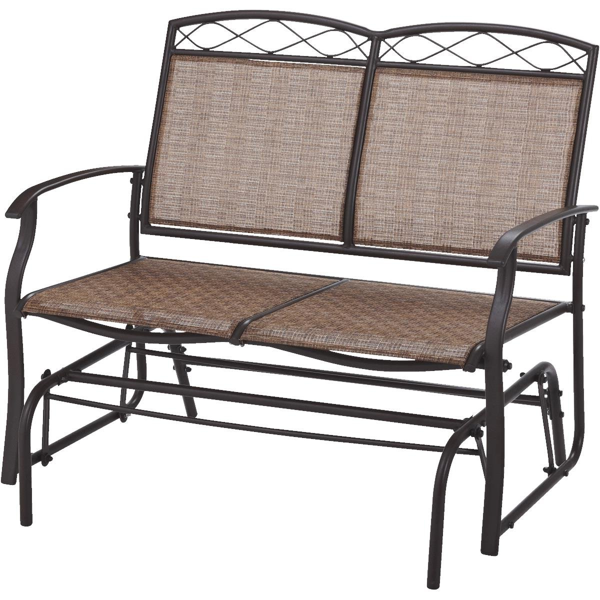 Latest Metal Powder Coat Double Seat Glider Benches With Do It Best Gs Tjf T011 Greenville Double Glider (View 11 of 30)