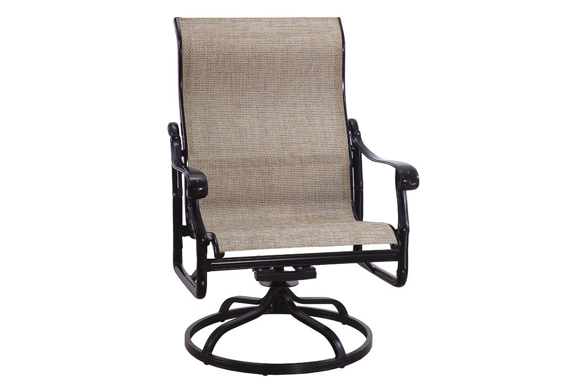 Latest San Marino Sling High Back Swivel Rocking Lounge Chair 50240024 Pertaining To Padded Sling High Back Swivel Chairs (View 19 of 30)