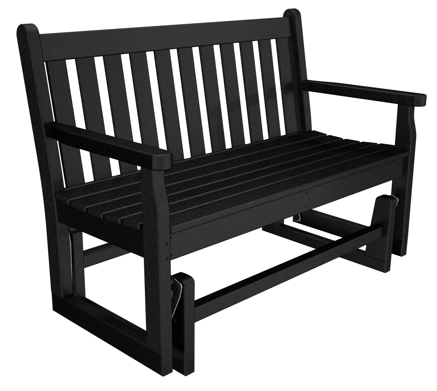 "Latest Traditional English Glider Benches For Polywood® Traditional Garden 48"" Glider Bench & Reviews (View 17 of 34)"