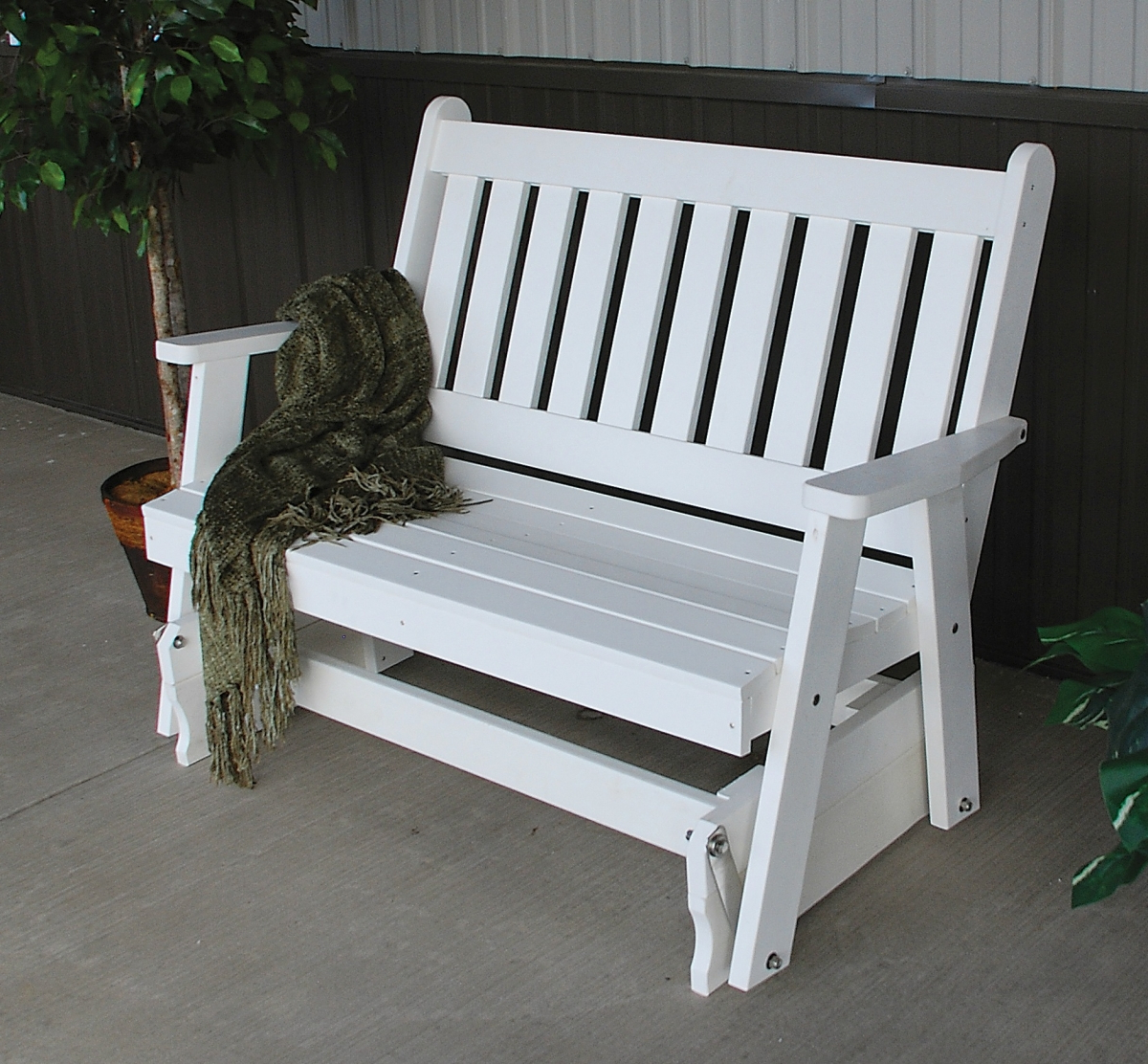 Latest Traditional Glider Benches Intended For 4′ Traditional English Gliding Bench » Amish Woodwork (View 13 of 30)