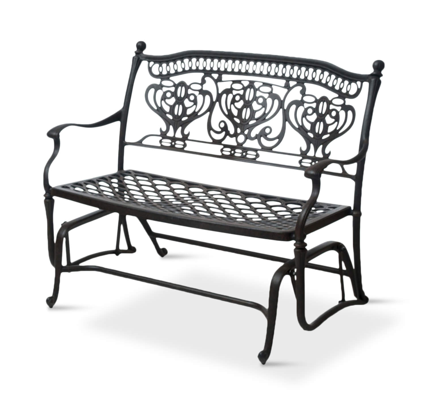 Latest Turin Double Glider For Metal Powder Coat Double Seat Glider Benches (View 12 of 30)