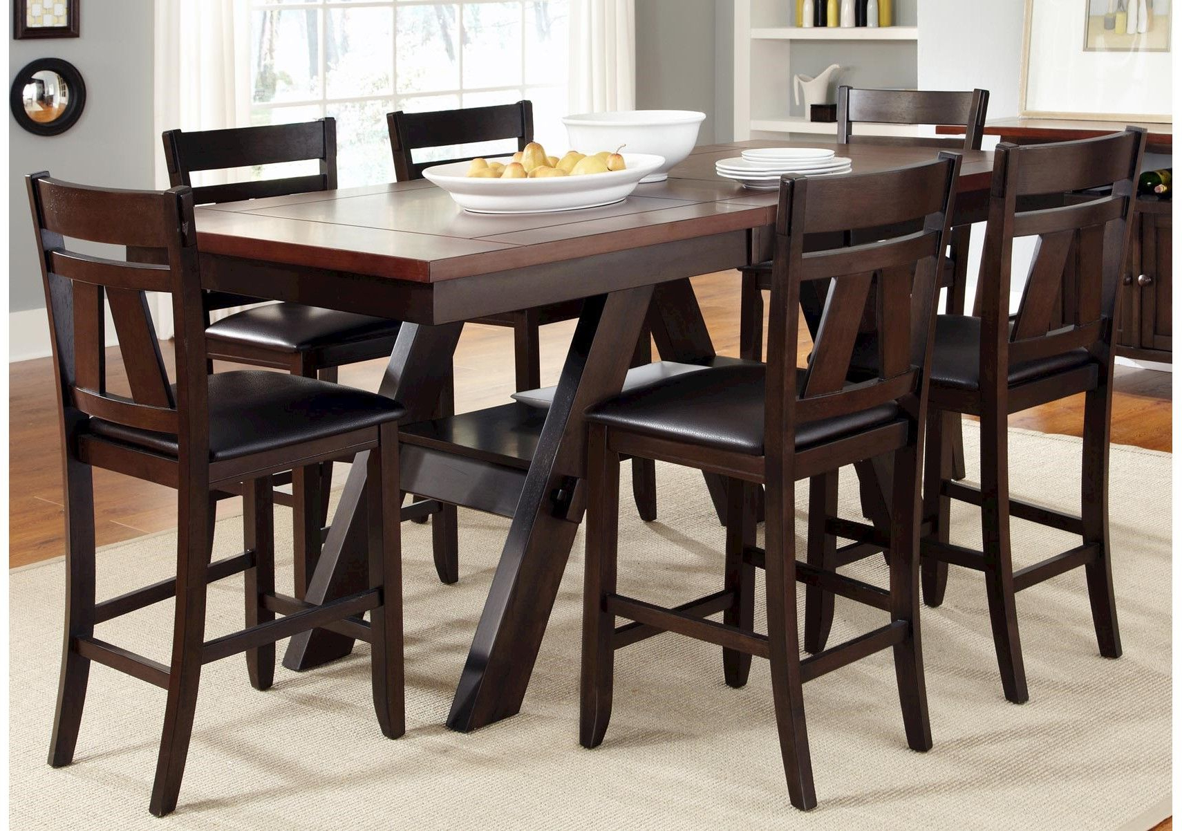 Lawson 7 Pc Counter Height Dining Set (View 20 of 30)