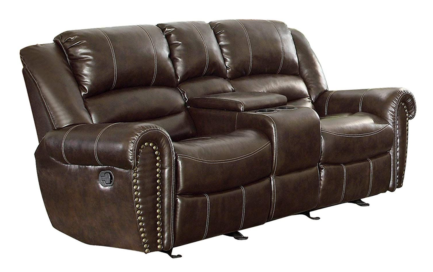 Leather Reclining Sofa, Leather (View 5 of 30)