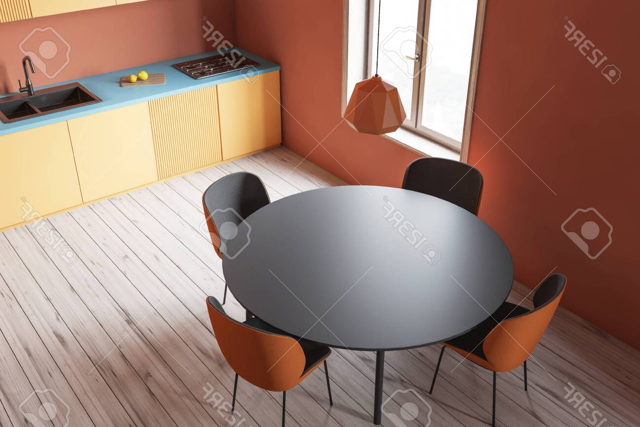 Likable Round Dining Table Wood Top Splendid Furniture Room Throughout Most Popular Acacia Top Dining Tables With Metal Legs (View 26 of 30)