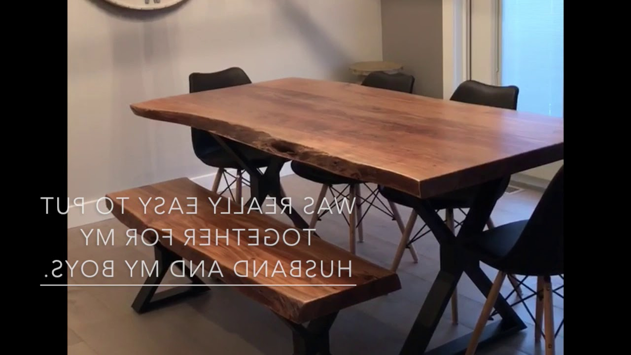 Live Edge Acacia Table With Black X Legs Review Within Current Acacia Dining Tables With Black X Leg (View 9 of 30)
