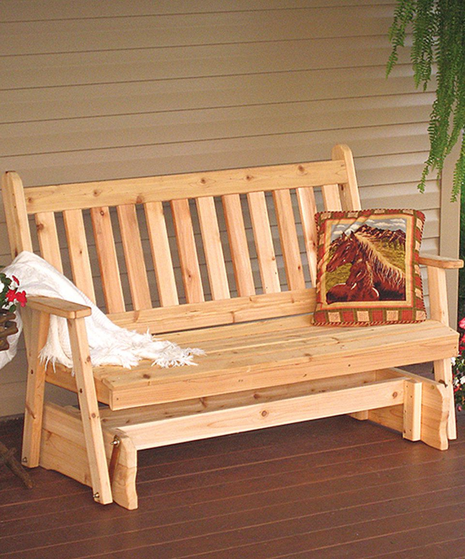 Look Swhat I Found On #zulily! Cedar Traditional English With Regard To Latest Traditional English Glider Benches (View 18 of 34)
