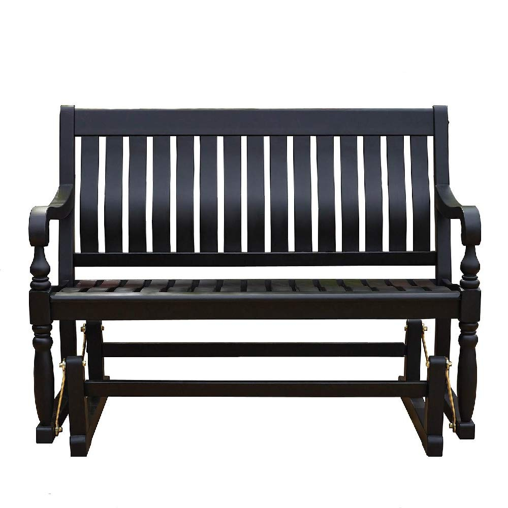 Loveseat Glider Benches Inside 2020 Amazon : Members Mark Loveseat Glider Bench In Black (View 2 of 30)