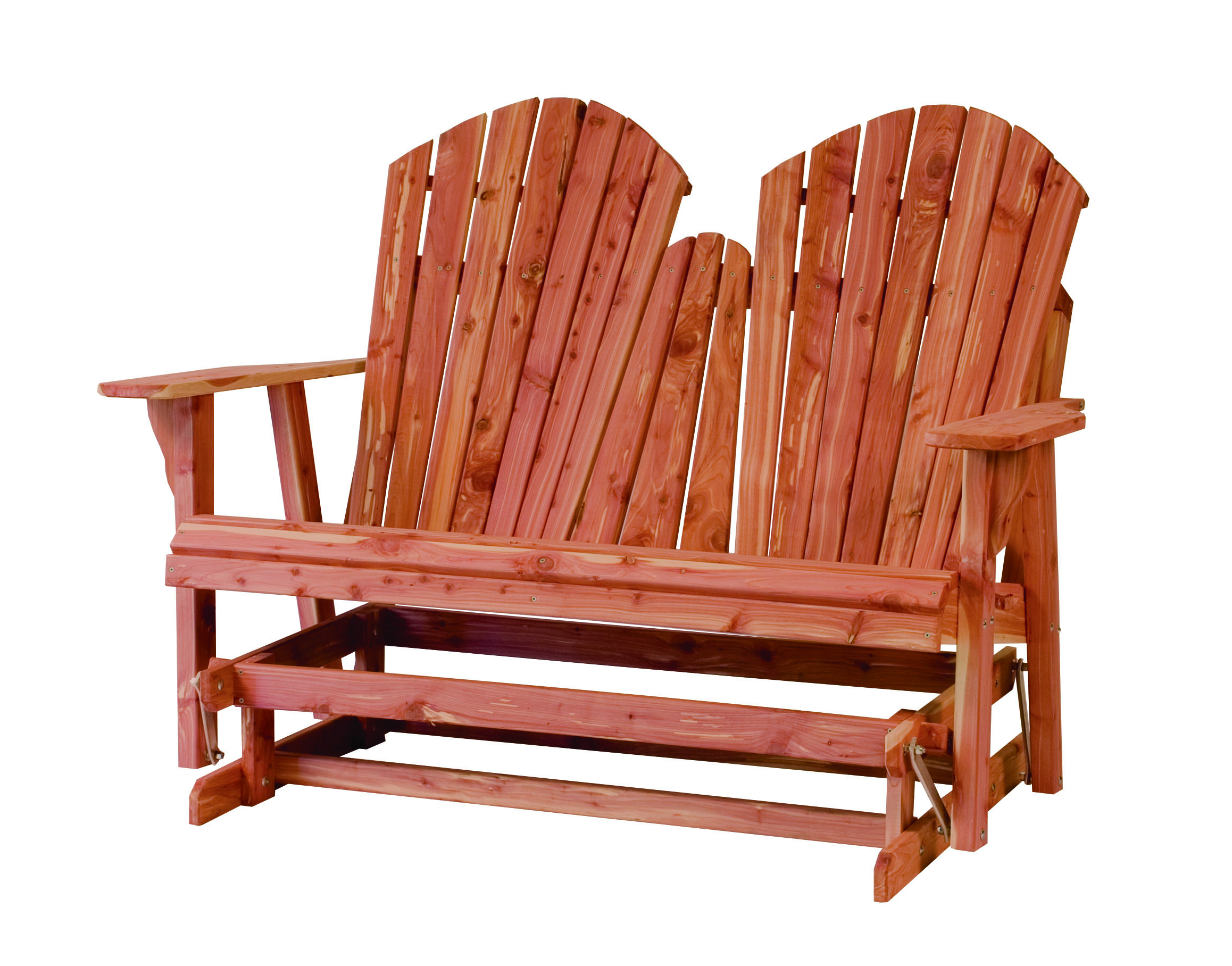 Loveseat Glider Benches Regarding Latest Rustic Red Cedar Gliders – Sturgeon River Pottery – Petoskey (View 23 of 30)